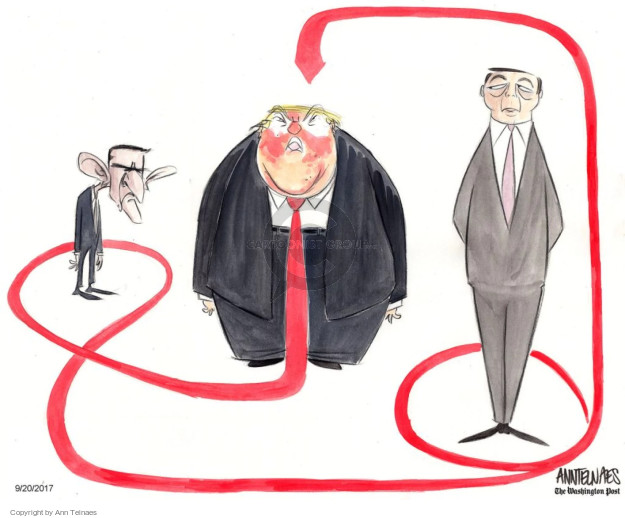 Cartoonist Ann Telnaes  Ann Telnaes' Editorial Cartoons 2017-09-20 president