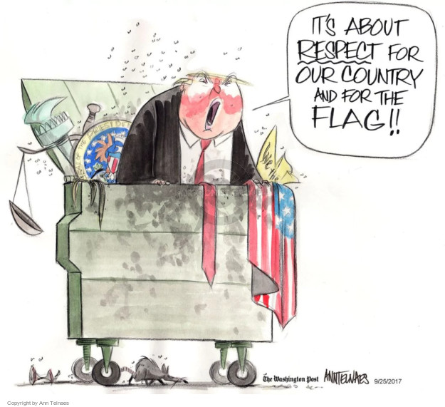 Ann Telnaes  Ann Telnaes' Editorial Cartoons 2017-09-25 patriotic