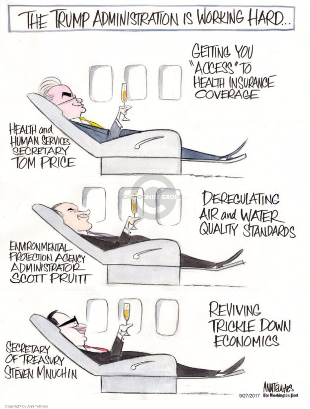 Cartoonist Ann Telnaes  Ann Telnaes' Editorial Cartoons 2017-09-27 service
