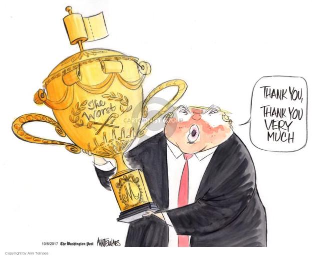 Cartoonist Ann Telnaes  Ann Telnaes' Editorial Cartoons 2017-10-06 presidential administration
