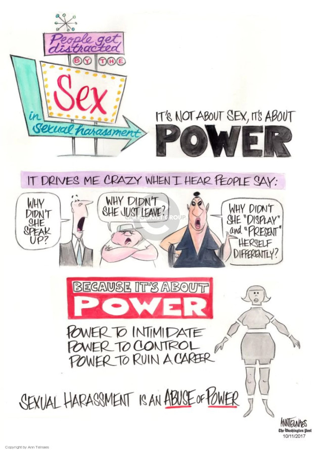 Ann Telnaes  Ann Telnaes' Editorial Cartoons 2017-10-11 sexual