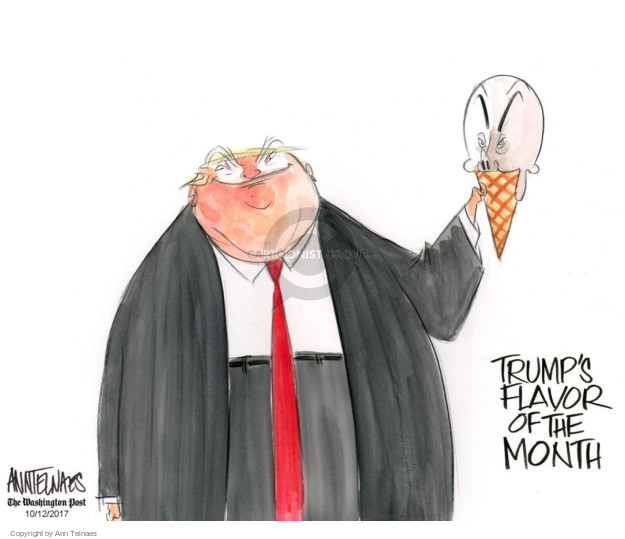 Cartoonist Ann Telnaes  Ann Telnaes' Editorial Cartoons 2017-10-12 presidential administration