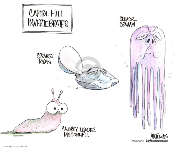 Ann Telnaes  Ann Telnaes' Editorial Cartoons 2017-10-29 Mitch McConnell