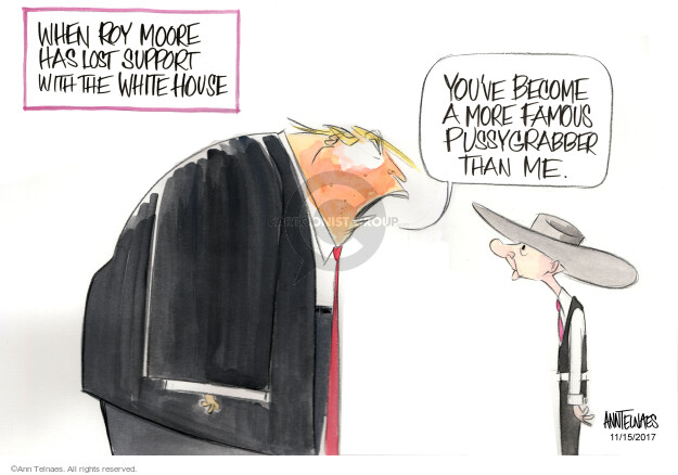 Cartoonist Ann Telnaes  Ann Telnaes' Editorial Cartoons 2017-11-15 presidential administration