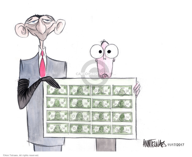 Ann Telnaes  Ann Telnaes' Editorial Cartoons 2017-11-17 Mitch McConnell