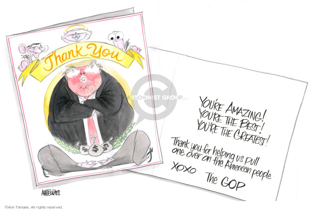 Ann Telnaes  Ann Telnaes' Editorial Cartoons 2017-12-21 legislative