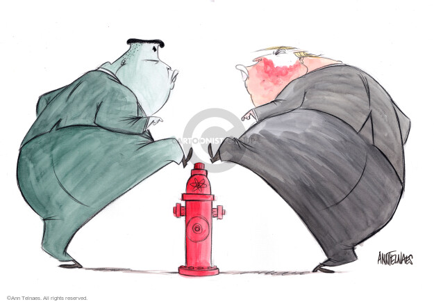 Ann Telnaes  Ann Telnaes' Editorial Cartoons 2018-01-03 nuclear