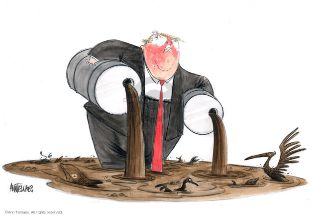 Cartoonist Ann Telnaes  Ann Telnaes' Editorial Cartoons 2018-01-05 oil