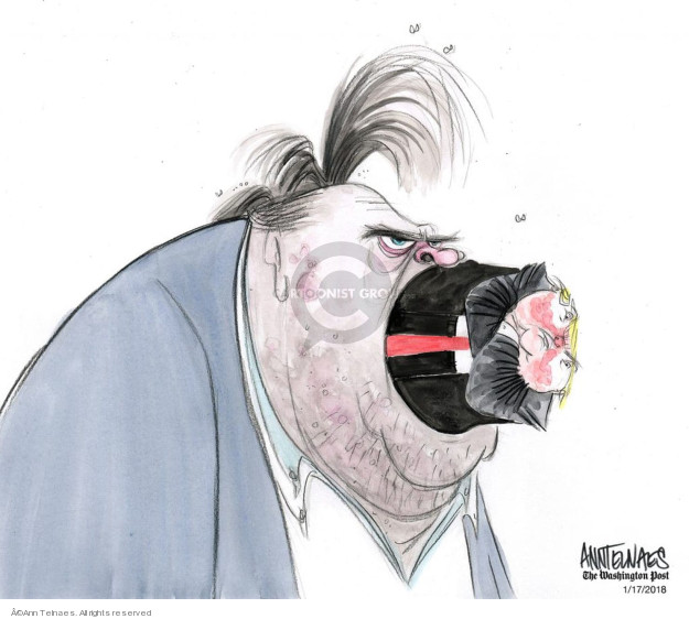 Ann Telnaes  Ann Telnaes' Editorial Cartoons 2018-01-17 Donald Trump Steve Bannon