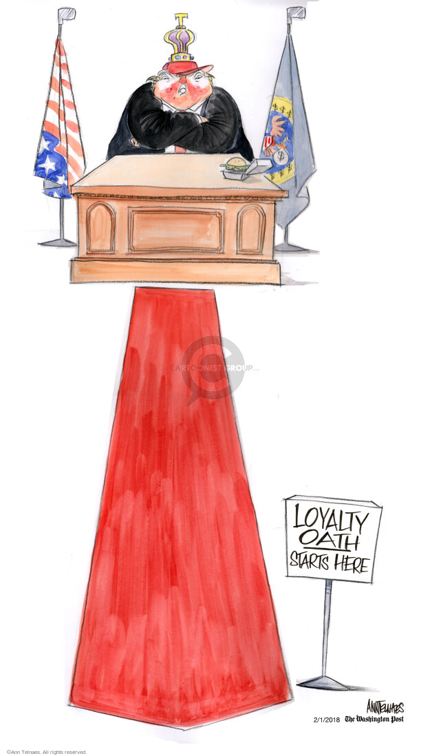Cartoonist Ann Telnaes  Ann Telnaes' Editorial Cartoons 2018-02-01 Donald
