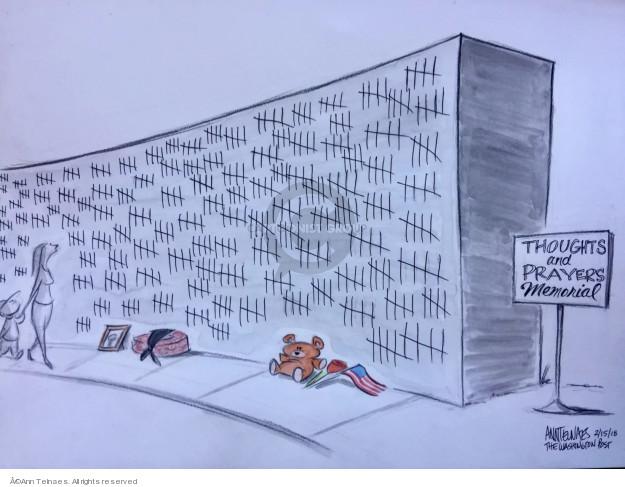 Cartoonist Ann Telnaes  Ann Telnaes' Editorial Cartoons 2018-02-15 shooting