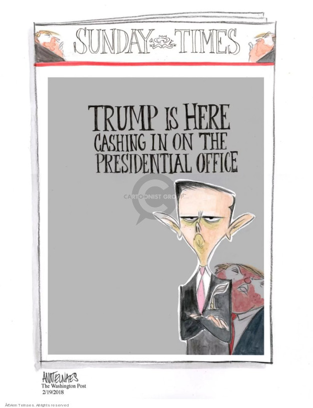 Cartoonist Ann Telnaes  Ann Telnaes' Editorial Cartoons 2018-02-19 Donald