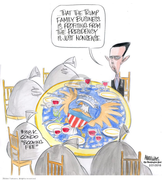 Ann Telnaes  Ann Telnaes' Editorial Cartoons 2018-02-21 business