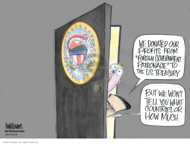 Ann Telnaes  Ann Telnaes' Editorial Cartoons 2018-02-27 connection