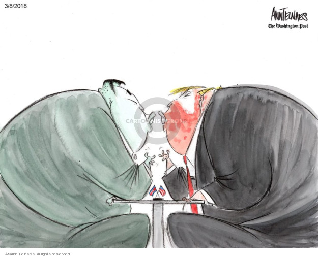 Ann Telnaes  Ann Telnaes' Editorial Cartoons 2018-03-09 nuclear
