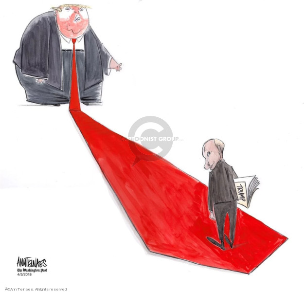 Cartoonist Ann Telnaes  Ann Telnaes' Editorial Cartoons 2018-04-03 United States and Russia