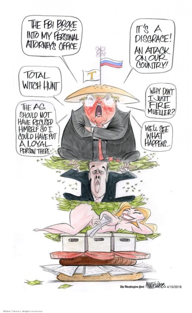 Ann Telnaes  Ann Telnaes' Editorial Cartoons 2018-04-10 connection