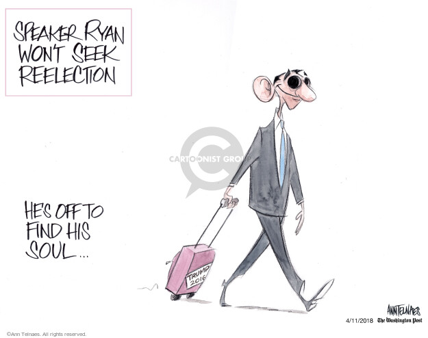 Cartoonist Ann Telnaes  Ann Telnaes' Editorial Cartoons 2018-04-11 Ryan