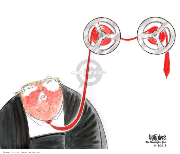 Ann Telnaes  Ann Telnaes' Editorial Cartoons 2018-04-13 connection