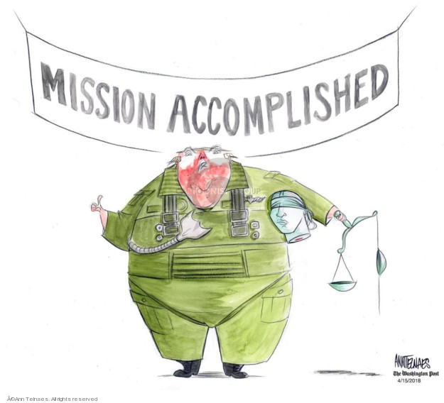 Ann Telnaes  Ann Telnaes' Editorial Cartoons 2018-04-15 international conflict