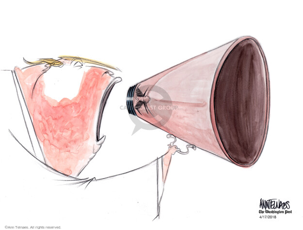 Cartoonist Ann Telnaes  Ann Telnaes' Editorial Cartoons 2018-04-17 media bias
