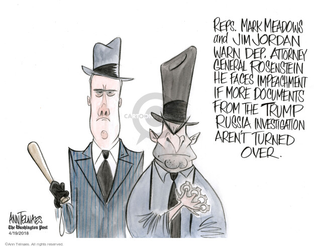 Ann Telnaes  Ann Telnaes' Editorial Cartoons 2018-04-19 threat