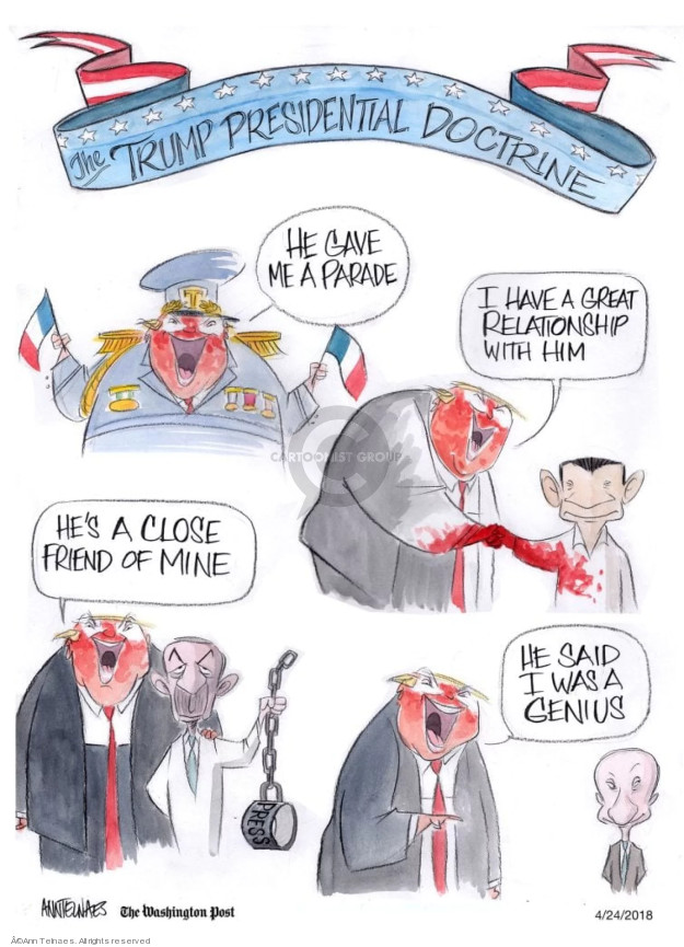 Cartoonist Ann Telnaes  Ann Telnaes' Editorial Cartoons 2018-04-24 United States and Russia
