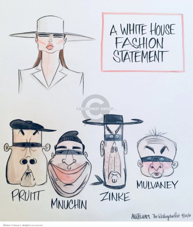 Ann Telnaes  Ann Telnaes' Editorial Cartoons 2018-04-25 Melania Trump