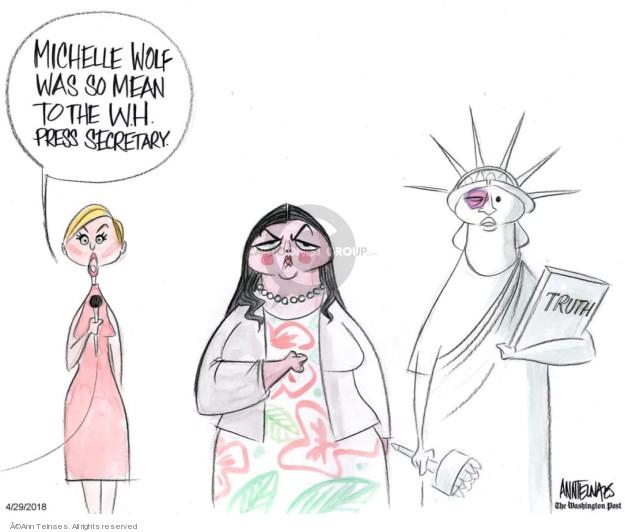 Cartoonist Ann Telnaes  Ann Telnaes' Editorial Cartoons 2018-04-29 Sarah Huckabee Sanders