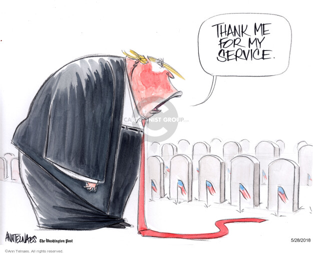 Cartoonist Ann Telnaes  Ann Telnaes' Editorial Cartoons 2018-05-28 service