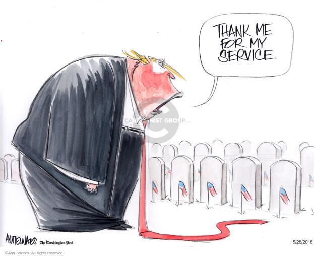 Cartoonist Ann Telnaes  Ann Telnaes' Editorial Cartoons 2018-05-28 military