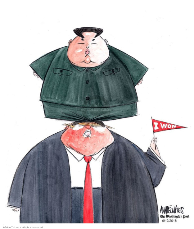 Cartoonist Ann Telnaes  Ann Telnaes' Editorial Cartoons 2018-06-12 north