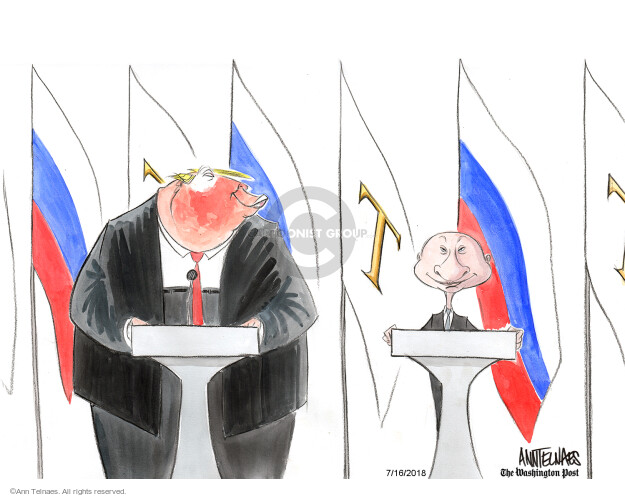 Cartoonist Ann Telnaes  Ann Telnaes' Editorial Cartoons 2018-07-16 United States and Russia