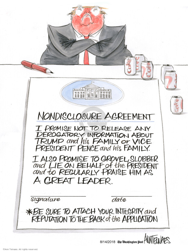Cartoonist Ann Telnaes  Ann Telnaes' Editorial Cartoons 2018-08-14 editorial staff