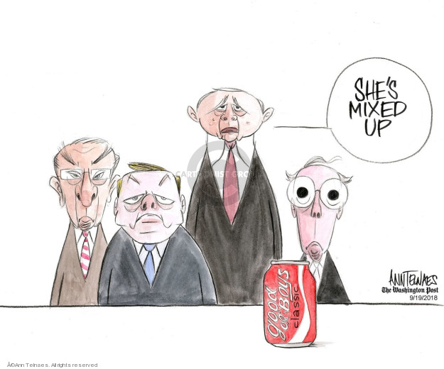 Ann Telnaes  Ann Telnaes' Editorial Cartoons 2018-09-19 supreme court nominee
