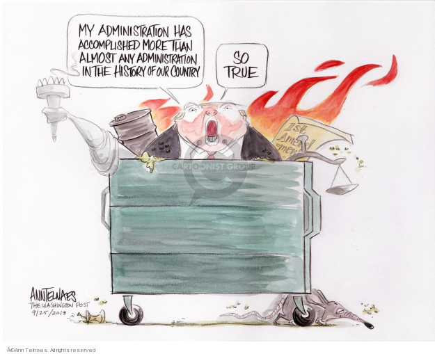 Ann Telnaes  Ann Telnaes' Editorial Cartoons 2018-09-25 rule of law