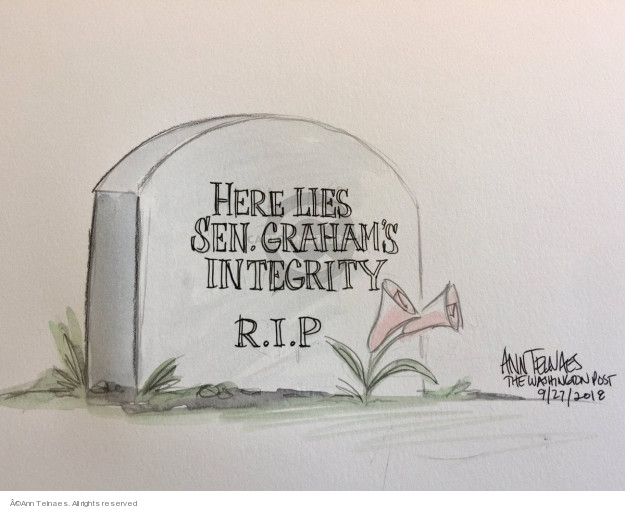 Ann Telnaes  Ann Telnaes' Editorial Cartoons 2018-09-27 supreme court nominee