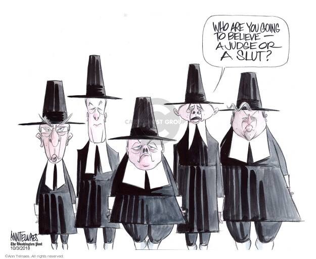 Ann Telnaes  Ann Telnaes' Editorial Cartoons 2018-10-03 supreme court nominee