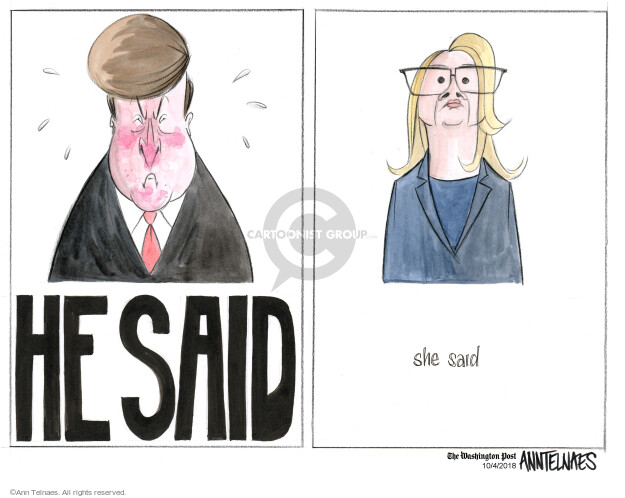 Ann Telnaes  Ann Telnaes' Editorial Cartoons 2018-10-04 supreme court nominee