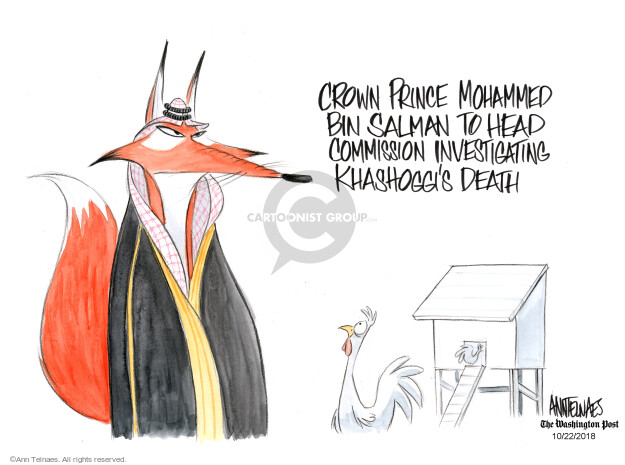 Ann Telnaes  Ann Telnaes' Editorial Cartoons 2018-10-22 death