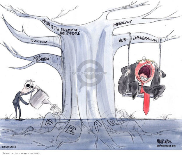 Cartoonist Ann Telnaes  Ann Telnaes' Editorial Cartoons 2018-10-29 majority