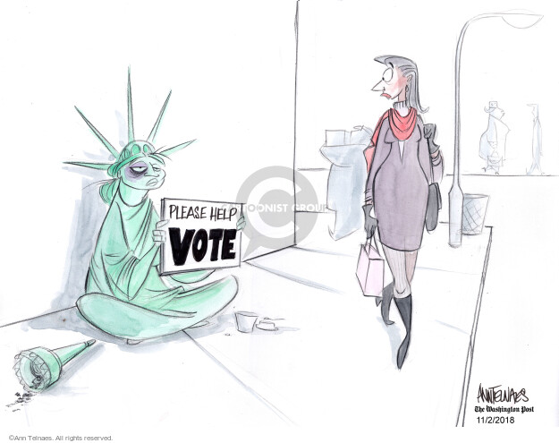 Ann Telnaes  Ann Telnaes' Editorial Cartoons 2018-11-02 lady