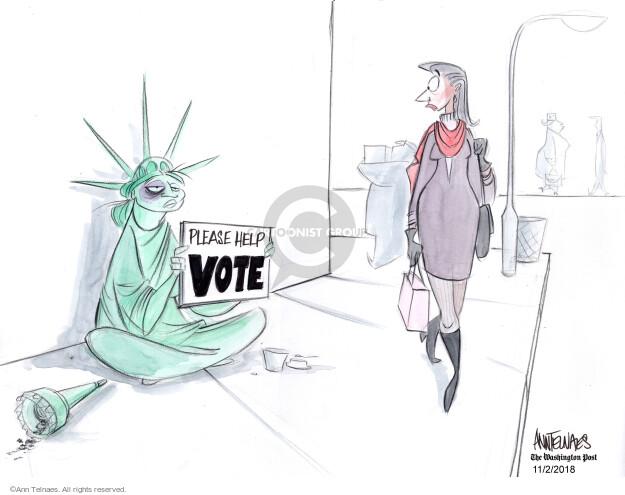 Cartoonist Ann Telnaes  Ann Telnaes' Editorial Cartoons 2018-11-02 voter