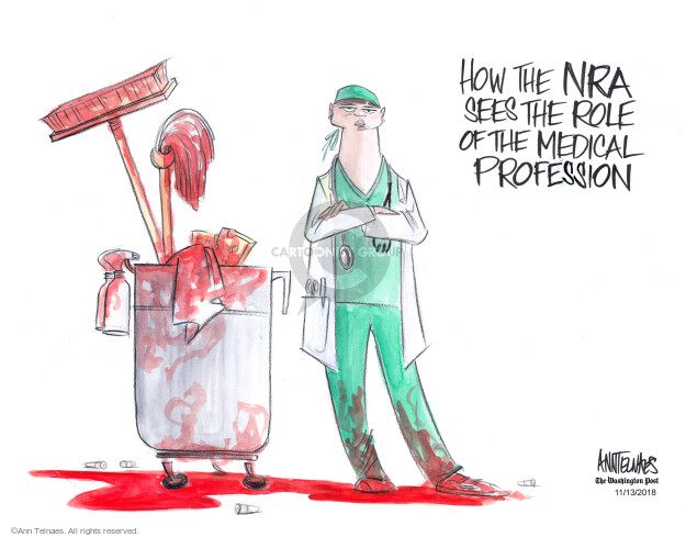 Cartoonist Ann Telnaes  Ann Telnaes' Editorial Cartoons 2018-11-13 gun