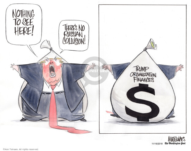 Ann Telnaes  Ann Telnaes' Editorial Cartoons 2018-11-19 finance