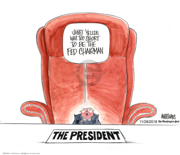 Ann Telnaes  Ann Telnaes' Editorial Cartoons 2018-11-28 Federal government