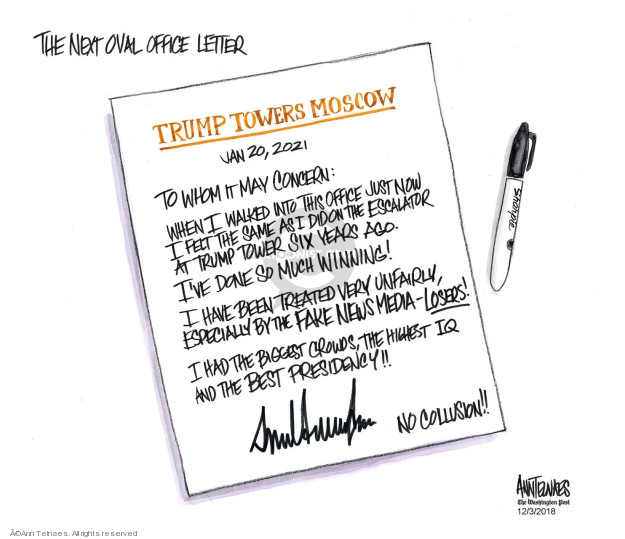 Ann Telnaes  Ann Telnaes' Editorial Cartoons 2018-12-03 Michael