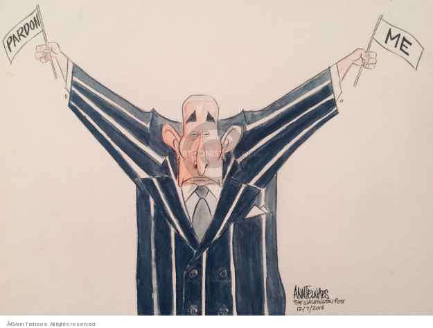 Ann Telnaes  Ann Telnaes' Editorial Cartoons 2018-12-07 presidential pardon