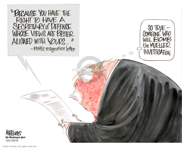 Cartoonist Ann Telnaes  Ann Telnaes' Editorial Cartoons 2018-12-21 cabinet