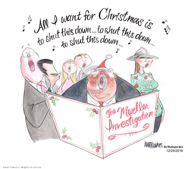 Ann Telnaes  Ann Telnaes' Editorial Cartoons 2018-12-24 Melania Trump